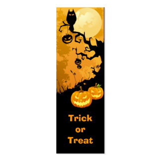 Halloween Trick or Treat Tag Business Card Template