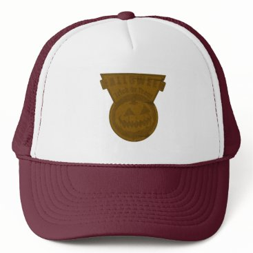 Halloween Themed Halloween -Trick Or Treat Triangle Brown Trucker Hat
