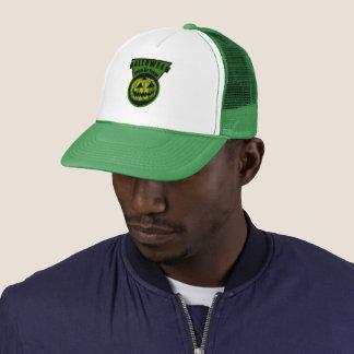 Halloween -Trick Or Treat Triangle Green Trucker Hat