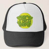 Halloween trick or treat trucker hat