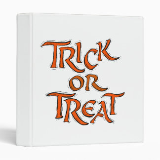 Halloween Trick or Treat Words Binder