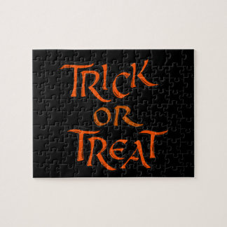 Halloween Trick or Treat Words Jigsaw Puzzle