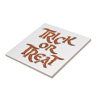 Halloween Trick or Treat Words Tile