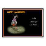 Halloween Trick or Treating Pirate Duck Business Card Template