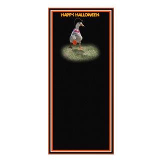 Halloween Trick or Treating Pirate Duck Custom Rack Card