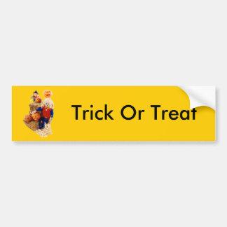 Halloween Trick Or Treats Car Bumper Sticker