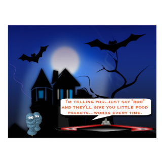 Halloween trick postcard