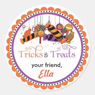 Halloween Tricks & Treats favor goodie bag sticker