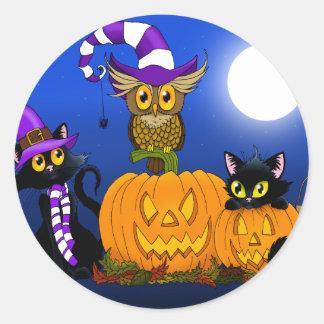 Halloween Trio Classic Round Sticker