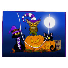 Halloween Trio Large Gift Bag at Zazzle