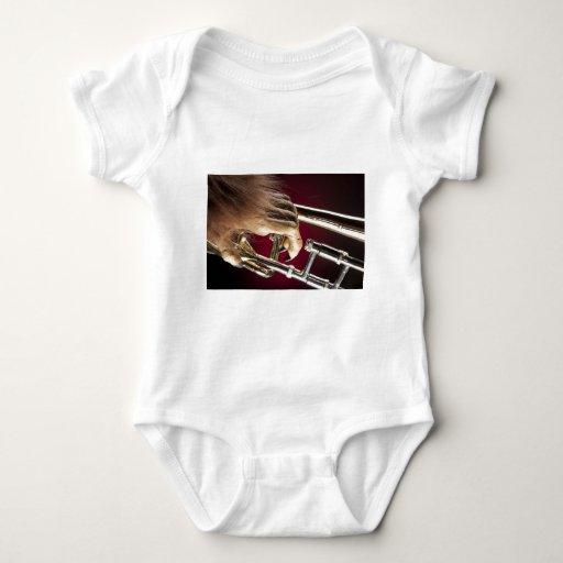 Halloween Trombone with a Monster Hand Tee Shirt