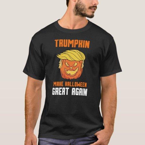 Halloween Trumpkin _ make again halloween great T_Shirt