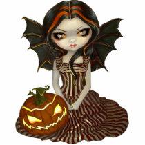 art, fantasy, halloween, hallowe'en, fall, autumn, sunset, witch, witches, night, dark, pumpkin, pumpkins, jack-o-lantern, jack o'lantern, jack, lantern, eye, eyes, big eye, big eyed, jasmine, becket-griffith, becket, griffith, jasmine becket-griffith, jasmin, strangeling, artist, goth, gothic, fairy, gothic fairy, faery, fairies, faerie, fairie, Photo Sculpture with custom graphic design