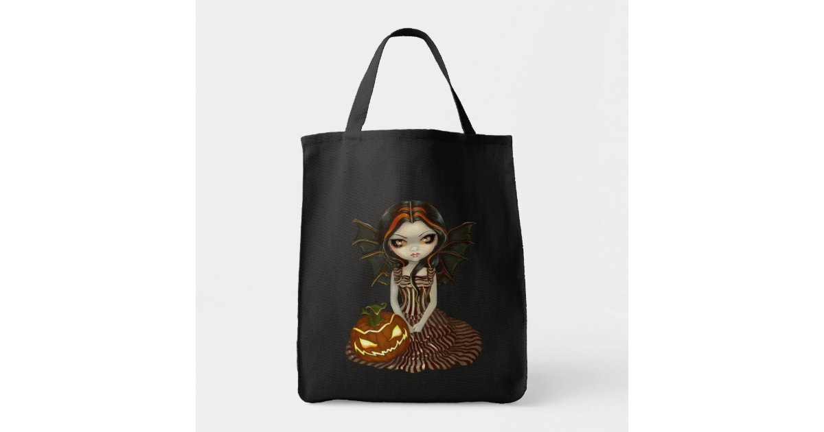 halloween twilight pumpkin fairy witch bag zazzle - Halloween Handbag