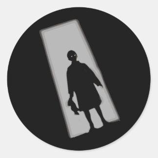 Halloween Twilight Zone Classic Round Sticker