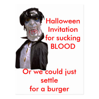 Halloween Twilite Vampires Postcard