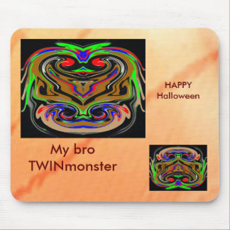 HALLOWEEN TWIN MONSTERs Mouse Pad