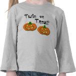 Halloween Twin or Treat pumpkin tee
