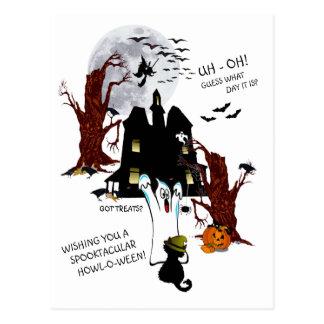 Halloween - Uh oh conjetura qué día es Tarjetas Postales