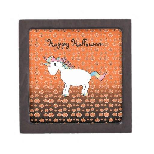 Halloween Unicorn Premium Trinket Boxes