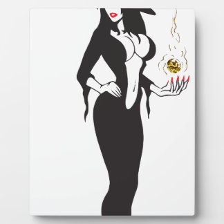 halloween vamp witch plaque