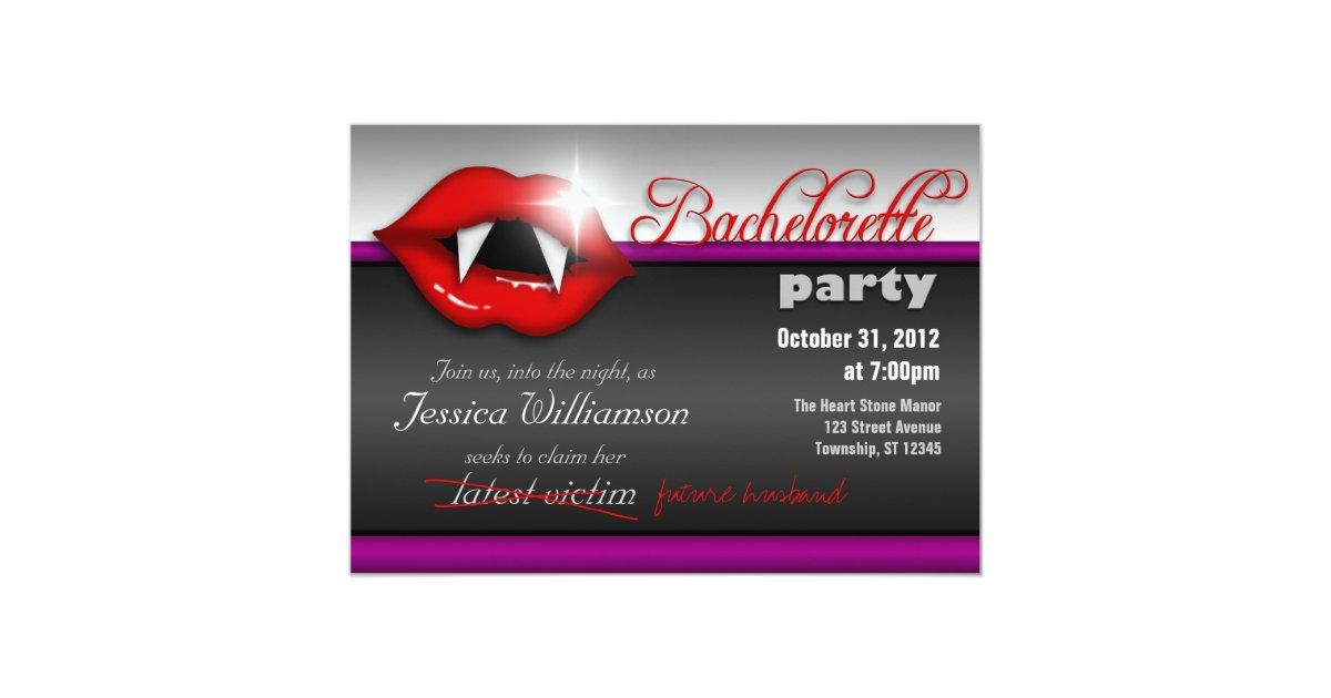 Halloween Vampire Bachelorette Party Invitations   Zazzle.com