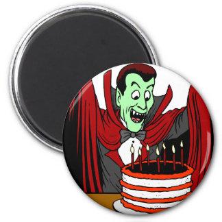 Halloween Vampire Birthday Gift 2 Inch Round Magnet