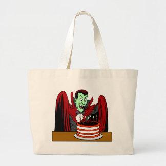 Halloween Vampire Birthday Gift Jumbo Tote Bag