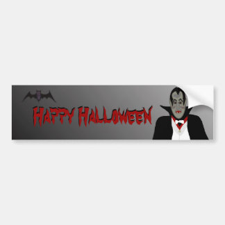 Halloween Vampire Bumper Sticker Car Bumper Sticker