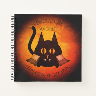 Halloween vampire cat for your recipes notebook