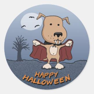 Halloween Vampire Dog stickers: Count Barkula Classic Round Sticker