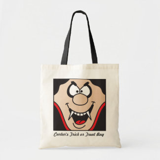 Halloween Vampire Face Trick or Treat  | DIY Name Tote Bag