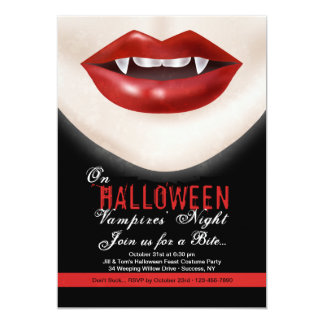Halloween Vampire Invitation