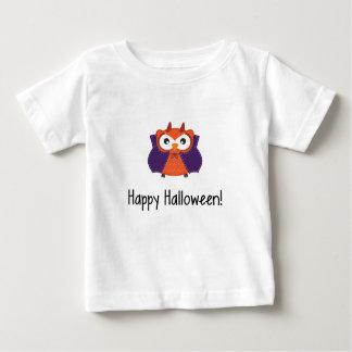 """Halloween Vampire Owl """"Happy Halloween"""" Baby T-Shirt"""