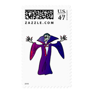 Halloween Vampire Postage Stamp