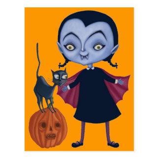 Halloween Vampire Postcard