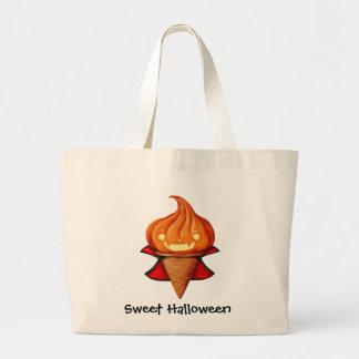 Halloween Vampire Pumpkin Ice Cream Canvas Bags