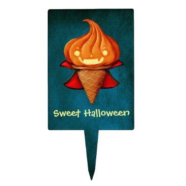 Halloween Themed Halloween Vampire Pumpkin Ice Cream Cake Topper