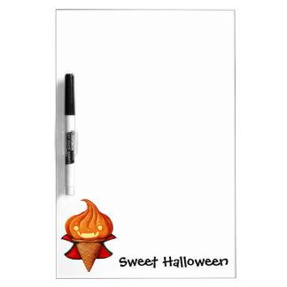 Halloween Vampire Pumpkin Ice Cream Dry-Erase Board
