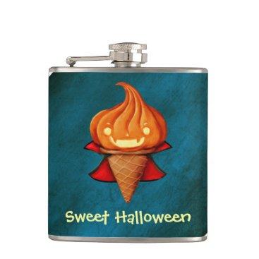 Halloween Themed Halloween Vampire Pumpkin Ice Cream Hip Flask