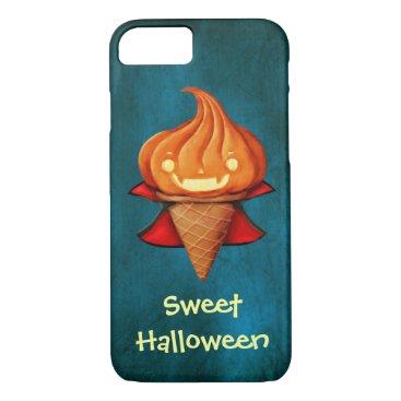 Halloween Themed Halloween Vampire Pumpkin Ice Cream iPhone 8/7 Case