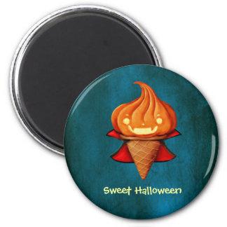 Halloween Vampire Pumpkin Ice Cream 2 Inch Round Magnet