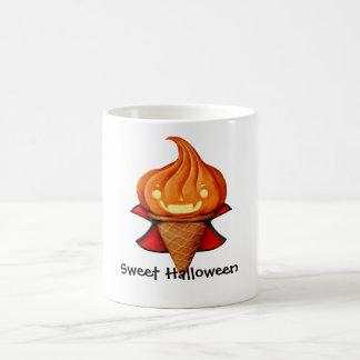 Halloween Vampire Pumpkin Ice Cream Classic White Coffee Mug