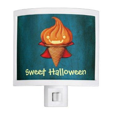 Halloween Themed Halloween Vampire Pumpkin Ice Cream Night Light
