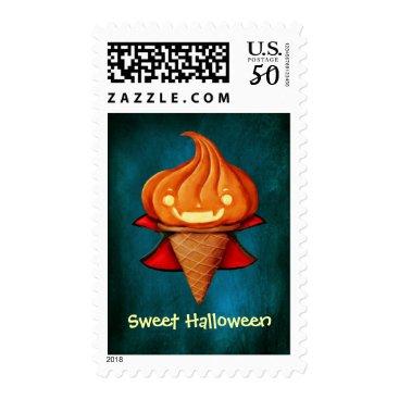 Halloween Themed Halloween Vampire Pumpkin Ice Cream Postage