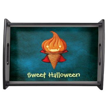 Halloween Themed Halloween Vampire Pumpkin Ice Cream Serving Tray