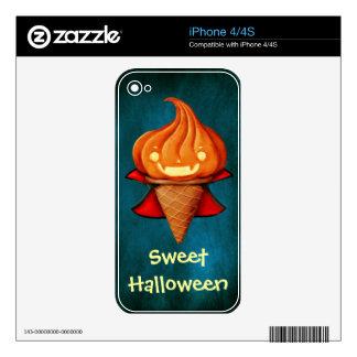 Halloween Vampire Pumpkin Ice Cream Decal For iPhone 4S