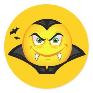 Halloween Vampire Smiley sticker