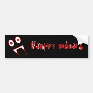 Halloween Vampire teeth Bumper Sticker