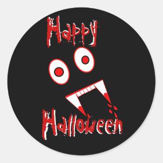 Halloween Vampire teeth Round Sticker